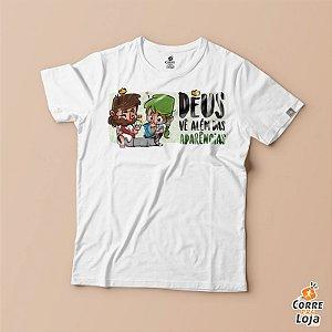 T-Shirt BRANCA-Alem das aparencias