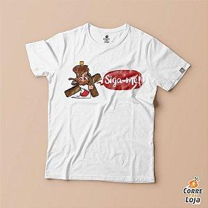 T-Shirt BRANCA-Siga-me