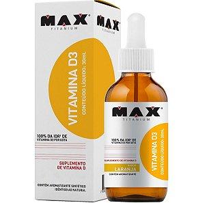 Vitamina D3 Gotas - 30ml - Max Titanium