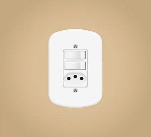 Interruptor 2 Teclas + 1 Tomada 20 A