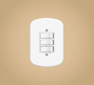 Interruptor 3 Teclas Simples