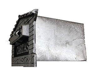 Caixa de Correios para Grade Prata Média - BRAGIONI