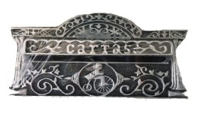 Caixa Para Correios de Embutir Italia Prata de Metal Média - KALA