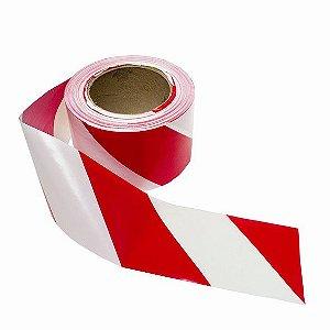 Fita Zebrada Para Demarcação Vermelha/Branca 48 x 100 MT