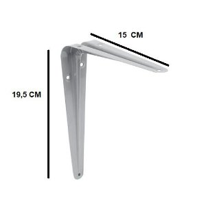Cantoneira 15x19,5cm Cinza