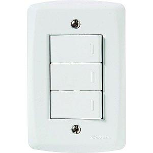 3 Interruptores Simples LUX² - TRAMONTINA