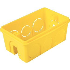 Caixa de Embutir 4 x 2 Retangular Amarela - TRAMONTINA