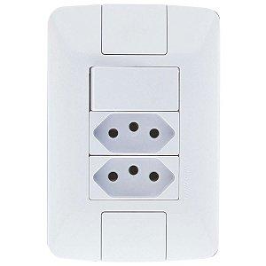 1 Interruptor Simples 6A + 2 Tomada 2P+T 10A ARIA - TRAMONTINA