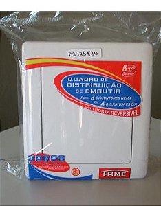 Quadro de Distribuição 3/4 Disjuntores - Branco - FAME