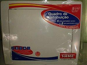 Quadro de Distribuição 6/8 Disjuntores - Branco - FAME
