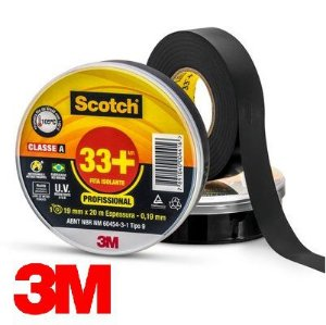 Fita Isolante 3M Scocth 33+ 19 x 20 MT - 3M