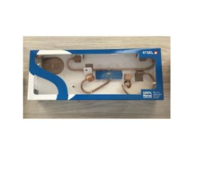 Kit Acessórios 5 Peças para Banheiro Quadrado Bronze