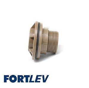 "Adaptador C/ Flange Para Caixa D'Água 60 x 2"" - FORTLEV"
