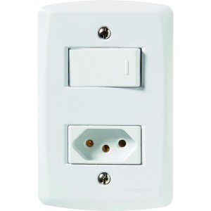 Interruptor Simples + 1 Tomada 2P+T 20A/250V - LUX² - TRAMONTINA