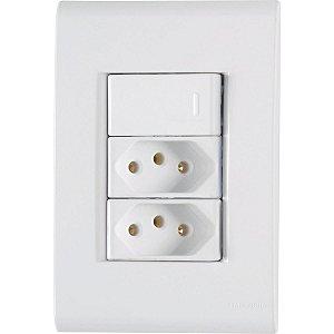 1 Interruptor Simples + 2 Tomadas 2P+T 20A/250V LIZ - TRAMONTINA
