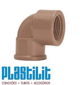 Joelho LR ( Soldável com Rosca ) 20 x 1/2 - PLASTILIT