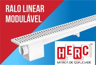 Ralo Sifonado Linear Modulável 50 CM Branco - HERC