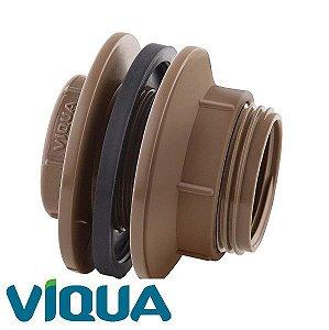 """Adaptador C/ Flange Para Caixa D'Água 50 x 1.1/2"""" - VIQUA"""
