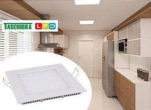 Painel LED Embutir 22 x 22 Quadrado 18 W 6500K - TASCHIBRA