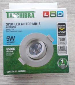 Spot Embutir LED 5W Autovolt 100-240v - TASCHIBRA