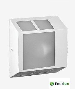 Arandela Sextavada Grande Branca E-27 - ENERLUX