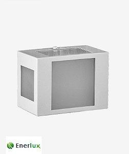 Arandela Retangular Mini Branca 5 Vidros - ENERLUX