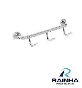 Cabide Multiuso Stander com 3 Ganchos - RAINHA METAIS