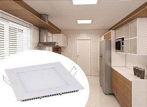 Painel LED Embutir 12 x 12 Quadrado 6 W 360 Lumens 6500K