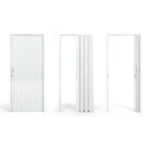 Porta Sanfonada 60 CM Branca - PLASFLEX
