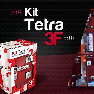 Kit Fechadura Roseta Quadrada Tetra 740T - 3F