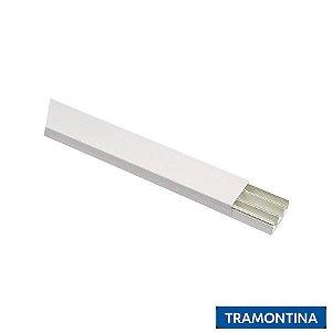 Canaleta 40x10x2000 Com Divisória com Fita Branca - TRAMONTINA