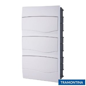Quadro de Distribuição de Embutir 36 Disjuntores Din Branco - TRAMONTINA