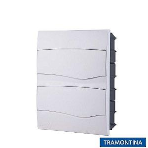 Quadro de Distribuição de Embutir 24 Disjuntores Din Branco - TRAMONTINA