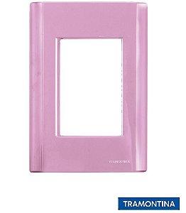 Placa + Suporte 4x2 (3 Postos) Rosa GIZ - TRAMONTINA