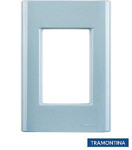 Placa + Suporte 4x2 (3 Postos) Azul Jeans GIZ - TRAMONTINA