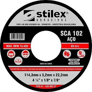 Disco de Corte de Aço 114,3 x 1,0 x 22,2 -STILEX