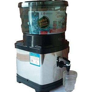 Filtro de Barro com Acabamento em Inox Fumê 10 Litros - UNIAO UTILIDADES