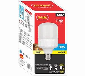 Lâmpada LED 30W T100 6500K E27 127/220V - G-LIGTH