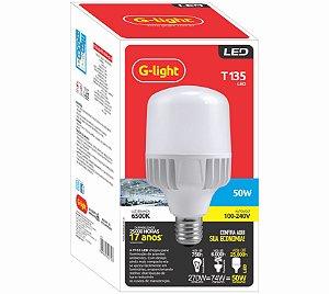 Lâmpada LED 50W T135 6500K E27 127/220V - G-LIGTH