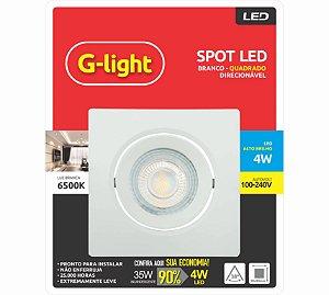 Spot LED Quadrado 4W 6500K Branco 127/220V - G-LIGTH