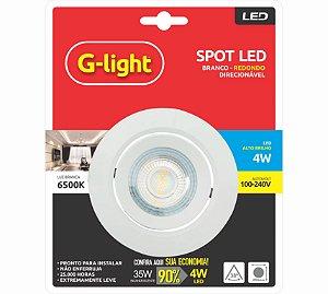Spot LED Redondo 4W 6500K Branco 127/220V - G-LIGTH