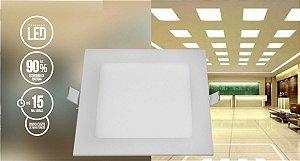 Painel LED de Embutir 20,5 x 20,5 Quadrado 18W 6500K 127/220V - G-LIGTH