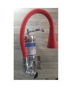 Torneira Flexível com Chuveirinho e Filtro C-65 Vermelha - PREMIER METAIS