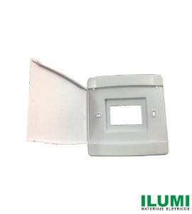 Quadro de Distribuição Embutir 3/4 Disjuntores Nema/DIM com Tampa Branca - ILUMI