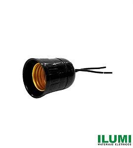 Soquete com Rabicho POP Preto 2A 250V - ILUMI
