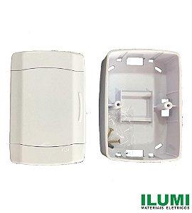 Quadro de Distribuição 2 Disjuntores Nema/DIM com Tampa Branca - ILUMI