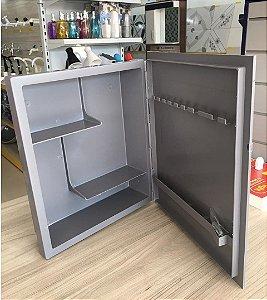Armário para Banheiro com Porta Cinza - LUCONI