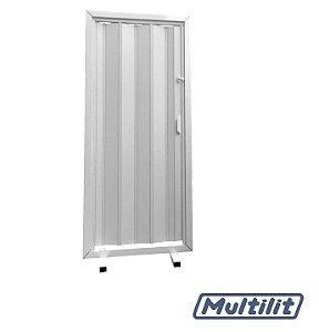 Porta Sanfonada 60 CM Branca - MULTILIT
