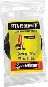 Fita Isolante 19 x 10 MT Anti Chamas - ADELBRAS