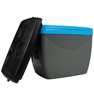 Caixa Térmica 6 Litros Cinza com Azul - MOR